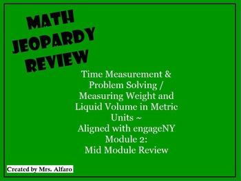 Time Measurement & Weight & Volume 3rd Grade Math Jeopardy ~Promethean/ClassFlow