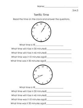 Time Measurement Worksheets