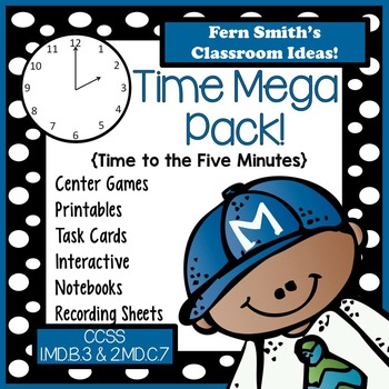 Time Centers, Task Cards, Printables, Notebook Activities
