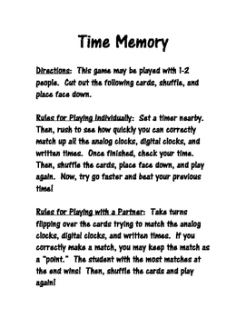 Time Memory Game!