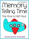 Memory: Telling Time To The Hour and Half Hour - Differentiated