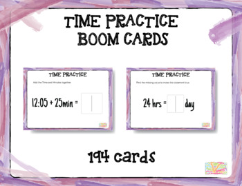 """Time Mental Math Practice """"Boom Cards"""""""