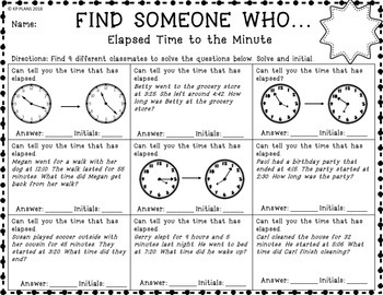 Time Find Someone Who Activity