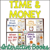 Time & Money Interactive Books (Life Skills for Special Ed)   Distance Learning
