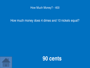 Time & Money Jeopardy Game