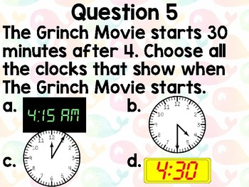 Time Morning Review Questions
