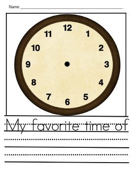 Time-My favorite time of the day is when...