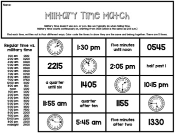 Time NO PREP - 20 Challenge/Enrichment Math Printables