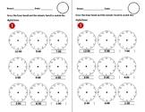 Time O' clock MIni Worsheets Digital to Analog (English)