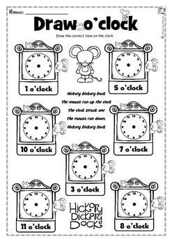Hickory Dickory Time O'clock Half Past Write & Wipe
