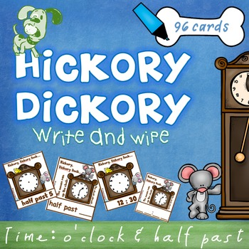 Time - O'clock half past - write and wipe cards