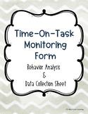 Time-On-Task Behavior Monitoring Form
