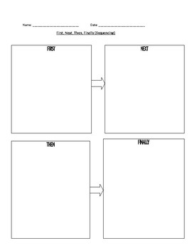 Time Order-Sequencing Graphic Organizer