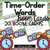 Time Order Transition Words Boom Task Cards
