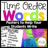 Time Order Words - Posters