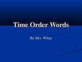 Time Order Words Slide Show