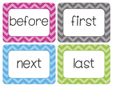 Time-Order Words Word Wall Cards