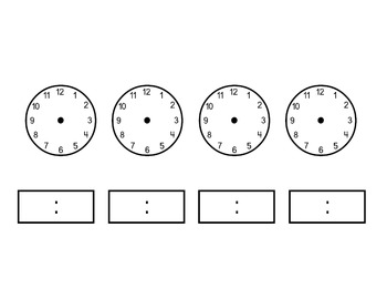 Time Ordering - Hour and Half Hour