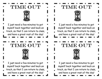Time Out Cards