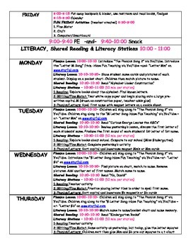 Kindergarten Special Ed FULL WEEK of Lesson Plans or Sub Plans by GBK