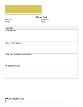 Time Out Form