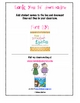 Time-Out Log for Classroom Behavior