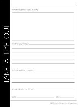 Time Out Behavior Reflection Sheet | Behavior Management | Reflection Tool