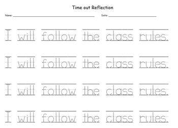 Time Out Sentences