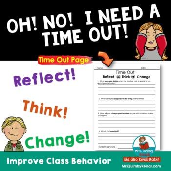 Time Out Sheet - Behavior Management - Classroom Management