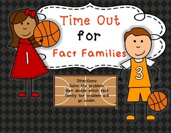 Time Out for Fact Families Math Center  Stations Tubs
