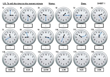 Time Pack - telling the time, time facts, 24 hour clock, reasoning
