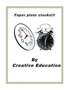 Time - Paper Plate Clocks