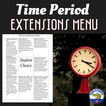 Differentiation: Time Period Extension Menu
