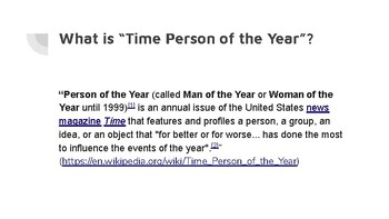 Time Person of the Year Media Assignment