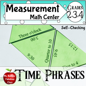 Time Phrases a Telling Time Math Center
