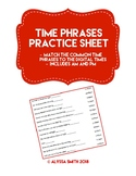 Time Phrases Practice Sheet