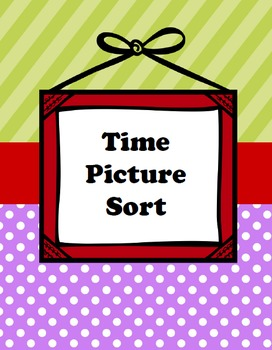 Time Picture Sort Work Station-Inspired by Debbie Diller's