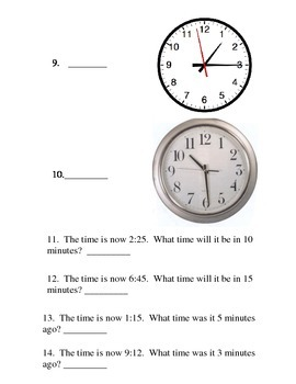 Time Placement Test