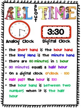 Time Poster - Anchor Chart