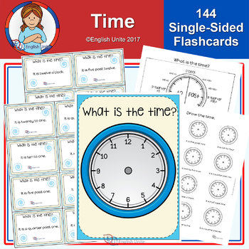 Time Poster, Flashcards and Worksheets