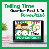 Time PowerPoint for Quarter Past and Quarter To