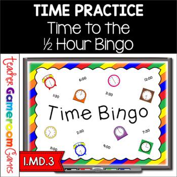 Time - Powerpoint Bingo- 1.MD.3