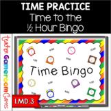 Time to the Half Hour Bingo Game