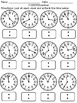 Time Practice BUNDLE! 1:00-12:00 Telling Time By The Minute