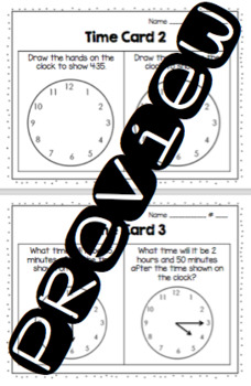 Time Practice Cards