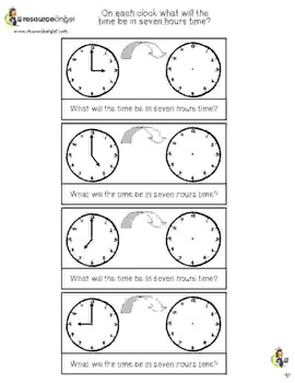 Time Practice Pack with differentiated clock activities