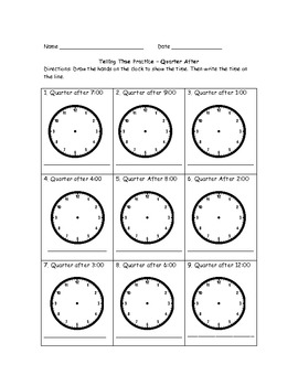 Time: Practice Packet