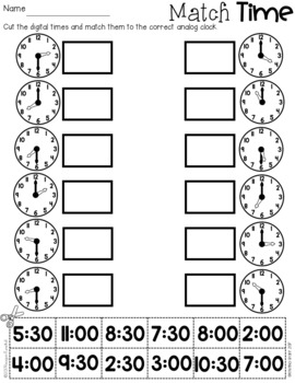 Time Practice Second Grade