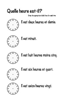 Time Practice in French