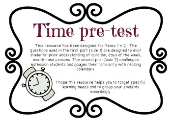Time Pre-test